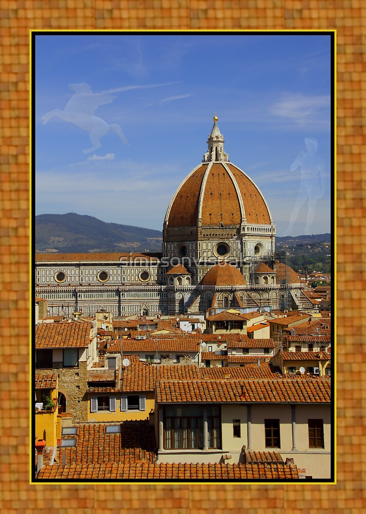 Duomo, David Statue and Pegasus, Florence, Italy by simpsonvisuals
