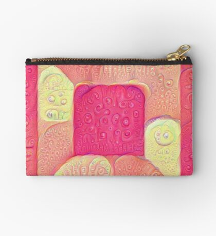 DeepDream Color Squares Visual Areas 5x5K v16 Zipper Pouch