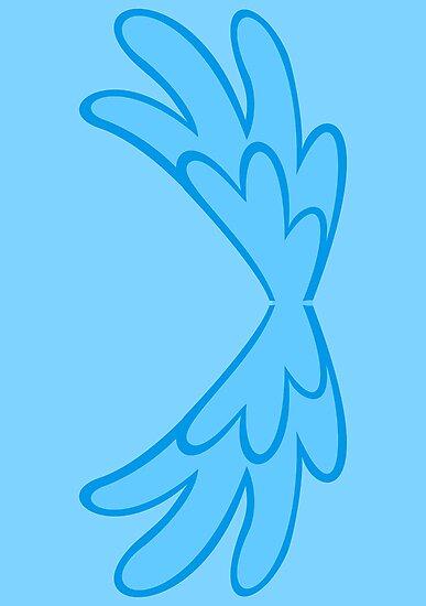Rainbow Dash Wings [for backside!] by Eniac