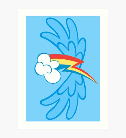 Rainbow Dash Cutie Wings Art Print