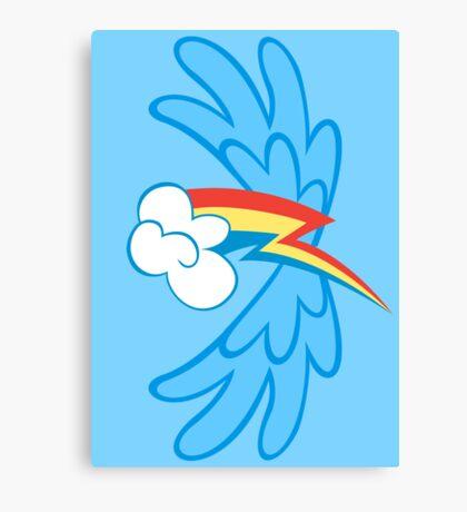 Rainbow Dash Cutie Wings Canvas Print