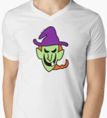 Naughty Halloween Witch Mens V-Neck T-Shirt