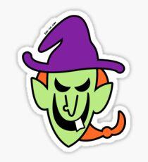 Naughty Halloween Witch Sticker