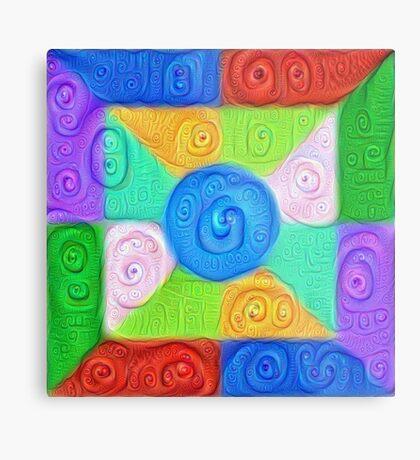 DeepDream Color Squares Visual Areas 5x5K v17 Metal Print