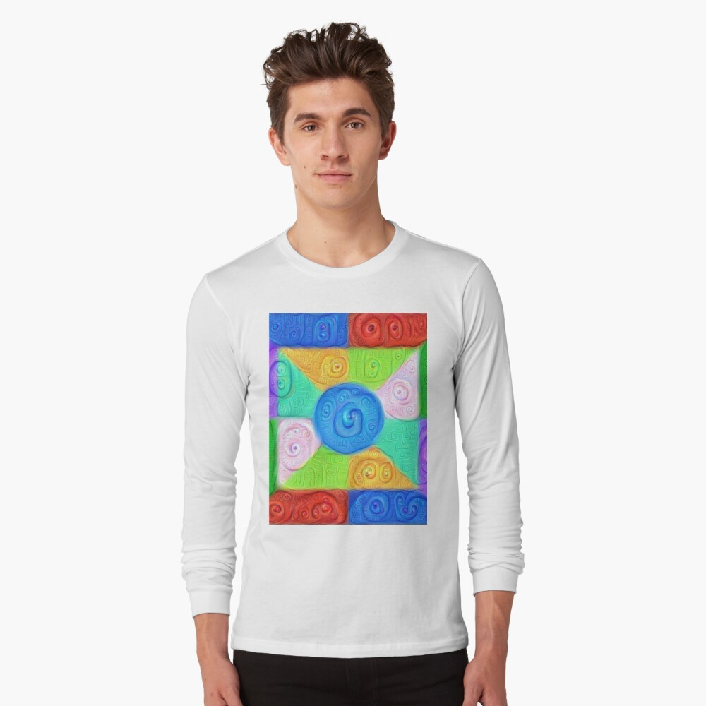 DeepDream Color Squares Visual Areas 5x5K v17 Long Sleeve T-Shirt