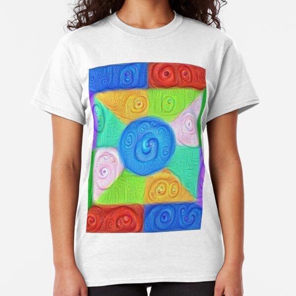 DeepDream Color Squares Visual Areas 5x5K v17 Classic T-Shirt
