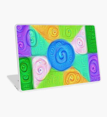 DeepDream Color Squares Visual Areas 5x5K v17 Laptop Skin