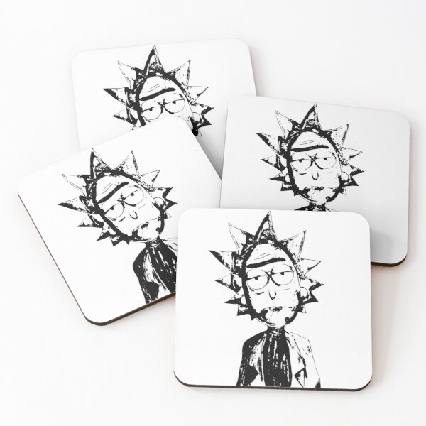 Rick And Morty - Rick Black And White Coasters (Set of 4)