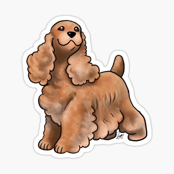 Cocker Spaniel - Red Golden Sticker