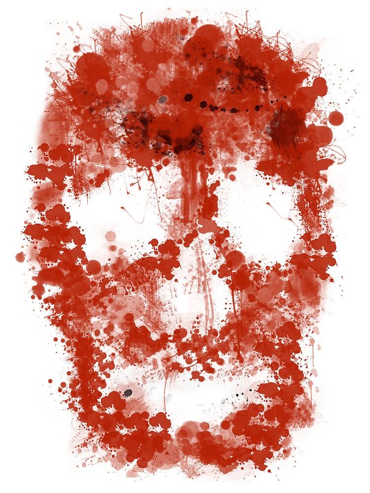 Splatter Skull (red blood of white) by Bela-Manson