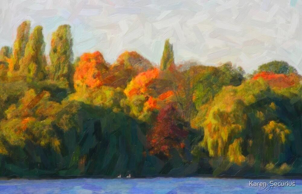 Autumn Alster oil01 by Karen  Securius