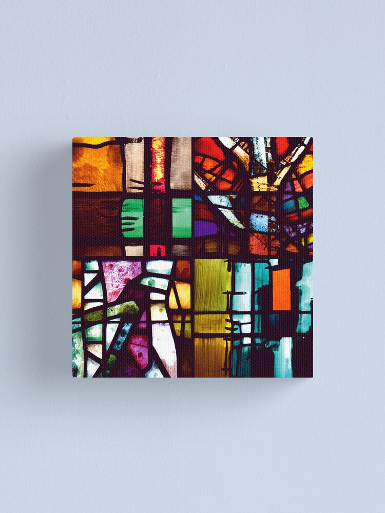 Alternate view of Coventry Stained Glass Canvas Print