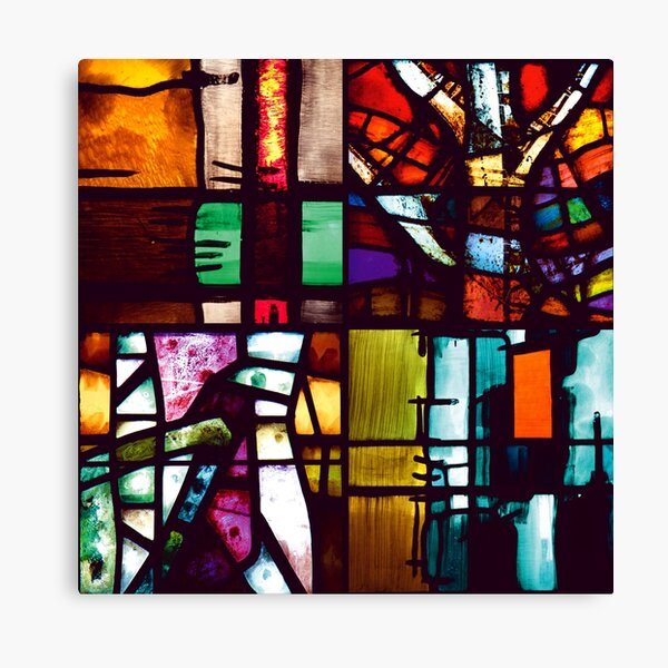 Coventry Stained Glass Canvas Print