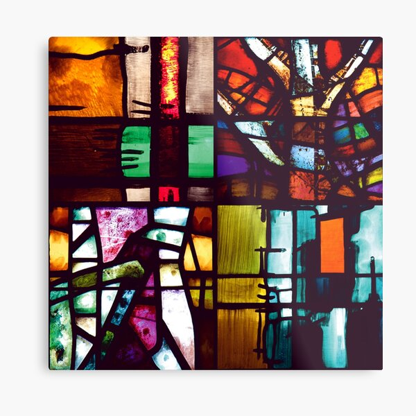 Coventry Stained Glass Metal Print