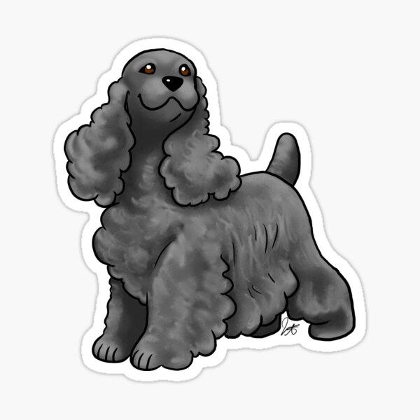 Cocker Spaniel - Black Sticker
