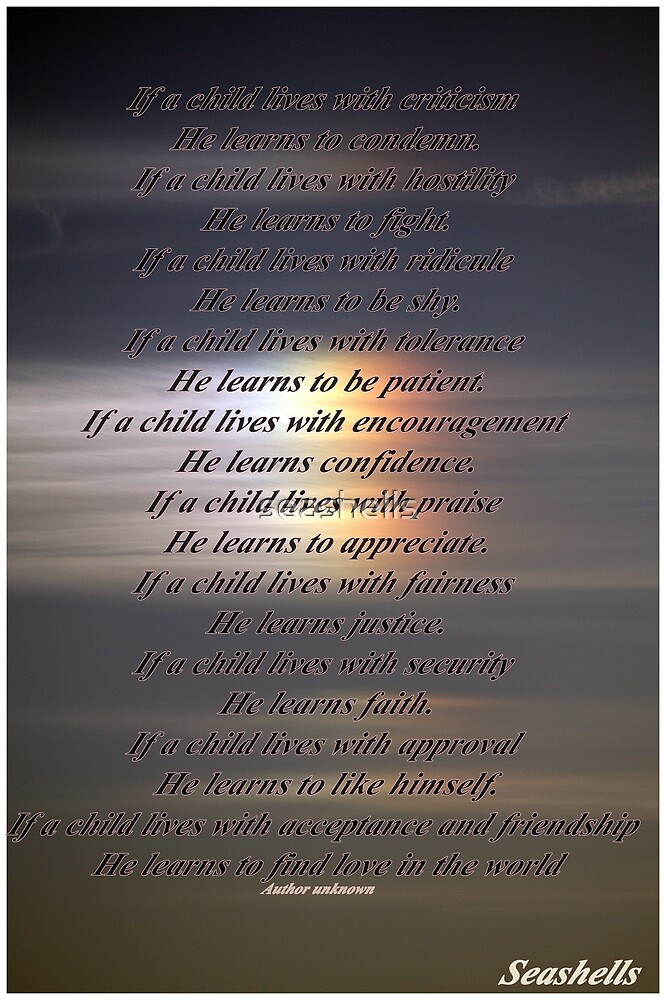 FOR THE LOVE OF A CHILD by seashells