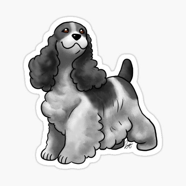 Cocker Spaniel - Black and White Sticker