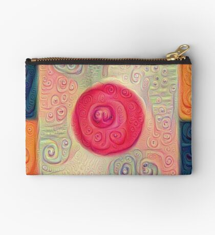DeepDream Color Squares Visual Areas 5x5K v18 Zipper Pouch