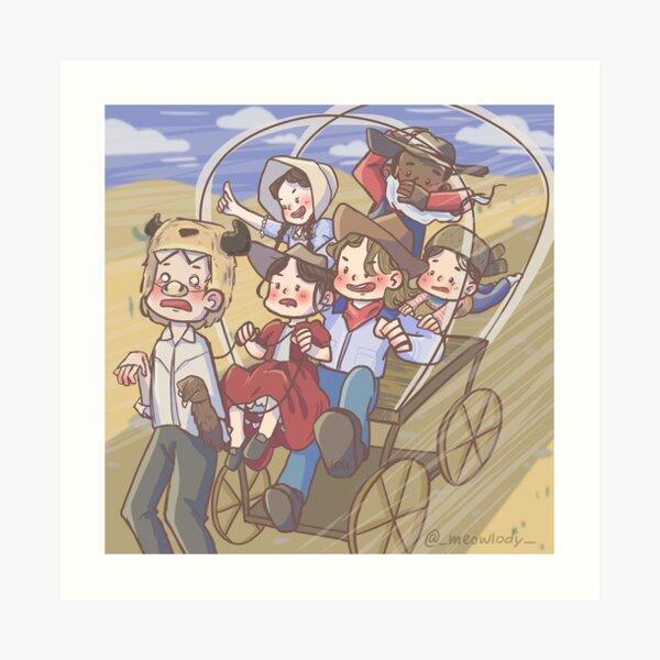 The Dikrats Family - Trail to Oregon STARKID Art Print