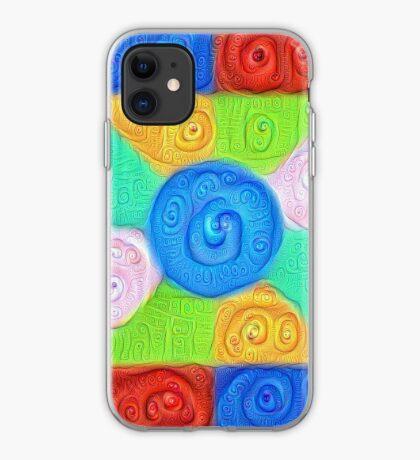 DeepDream Color Squares Visual Areas 5x5K v17 iPhone Case