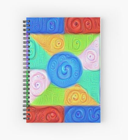 DeepDream Color Squares Visual Areas 5x5K v17 Spiral Notebook