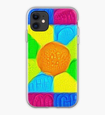 DeepDream Color Squares Visual Areas 5x5K v19 iPhone Case