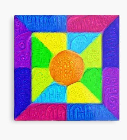 DeepDream Color Squares Visual Areas 5x5K v19 Metal Print