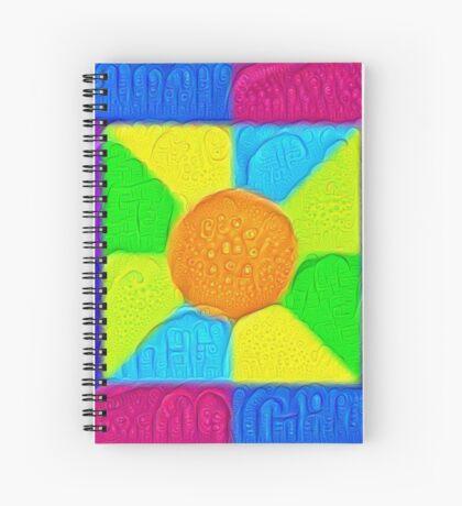 DeepDream Color Squares Visual Areas 5x5K v19 Spiral Notebook