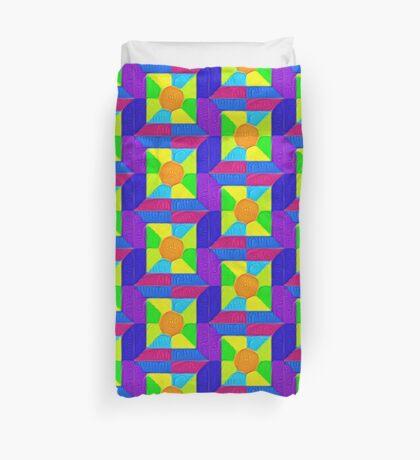 DeepDream Color Squares Visual Areas 5x5K v19 Duvet Cover