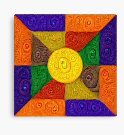DeepDream Color Squares Visual Areas 5x5K v20 Canvas Print