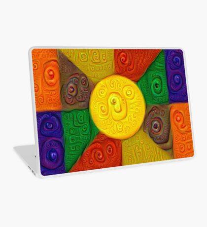 DeepDream Color Squares Visual Areas 5x5K v20 Laptop Skin