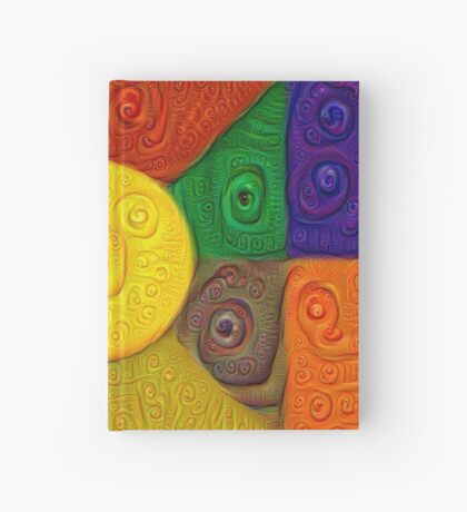 DeepDream Color Squares Visual Areas 5x5K v20 Hardcover Journal