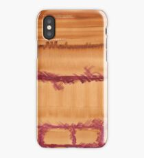Watercolor Hand Painted Brown Burgundy Brick Wall Texture iPhone Case/Skin