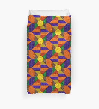 DeepDream Color Squares Visual Areas 5x5K v20 Duvet Cover