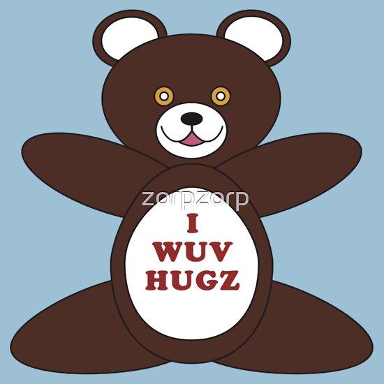 TShirtGifter presents: I Wuv Hugz | Unisex T-Shirt