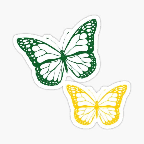 green/gold butterfly Sticker