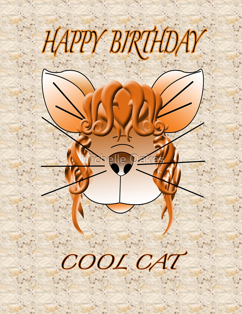 Cool Cat digital Illustrtion by Michelle Oakes