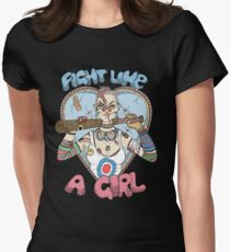 Fight Like A Girl - Fight Like A Tank Girl (Tank Girl) Women's Fitted T-Shirt