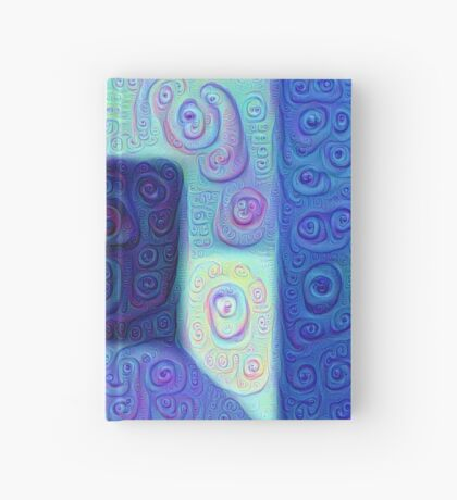 DeepDream Color Squares Visual Areas 5x5K v15 Hardcover Journal