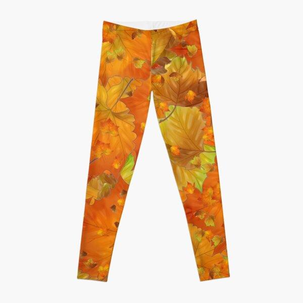 Golden Autumn Leaves Leggings