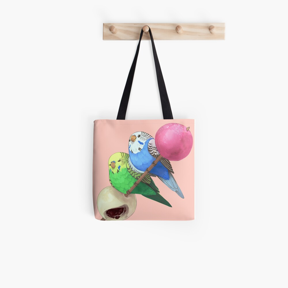 budgies on mochi stick Tote Bag