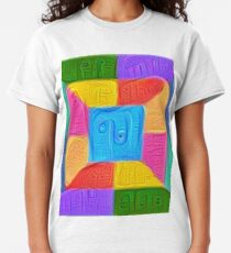 DeepDream Color Squares Visual Areas 5x5K v14 Classic T-Shirt