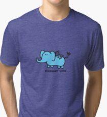 Elephant Love . Who Loves Elephants?  Tri-blend T-Shirt