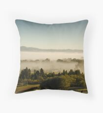 Morning Fog at Mudgee Homestead Guesthouse - Mudgee Throw Pillow