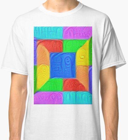 DeepDream Color Squares Visual Areas 5x5K v13 Classic T-Shirt
