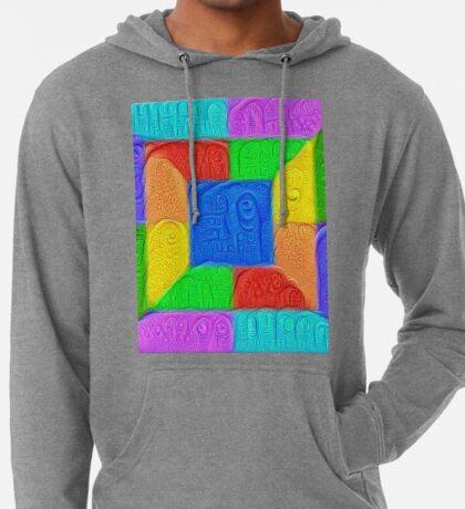 DeepDream Color Squares Visual Areas 5x5K v13 Lightweight Hoodie