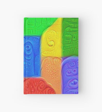 DeepDream Color Squares Visual Areas 5x5K v13 Hardcover Journal