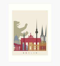 Berliner Skyline Poster Kunstdruck