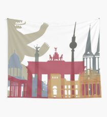 Berlin skyline poster Wall Tapestry
