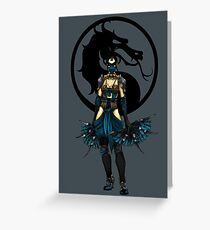 Kitana - Mortal Kombat X Greeting Card